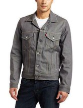 Levi's Men Premium Button Up Denim Jean Jacket Relaxed Rigid Gray 707970002
