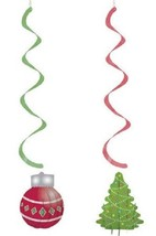 Christmas Ornament Tree 2 ct Party Dizzy Danglers Hanging Decorations - $8.09
