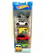 Hot Wheels Cars Bus Volkswagen 5 Pack Diecast Mattel Gift Set Age 3+ - $16.82