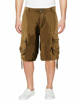 Men's Relaxed Fit Multi Pocket Cotton Casual Military Cargo Shorts image 2