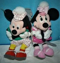 "Disney Store 8"" Mini Bean Bag Golfer Mickey and Minnie Mouse NWT - $17.77"