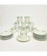 Lot of 11 Porcelain Demitasse Cups & 12 Saucers Coffee Espresso Floral G... - $37.78