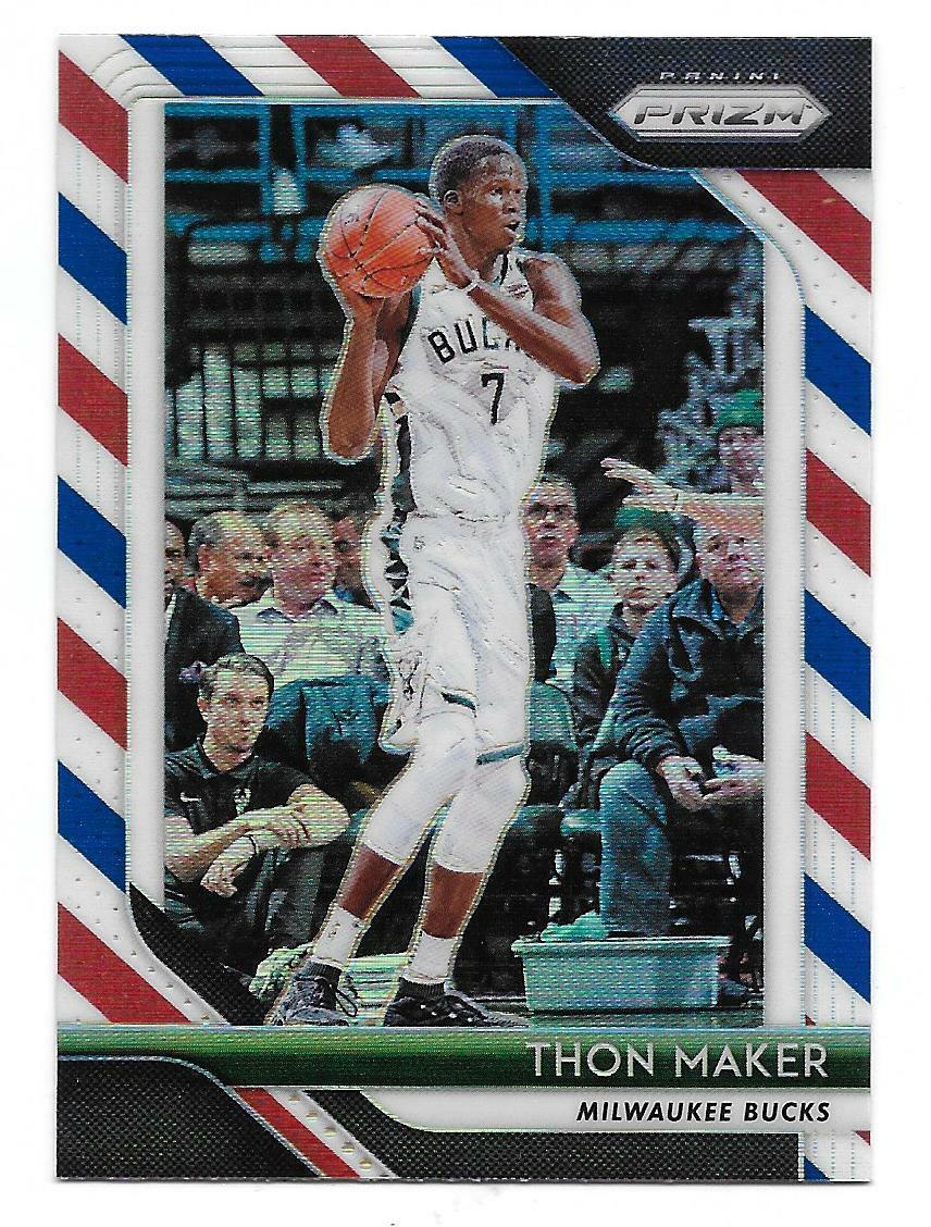 2018-19 Panini Prizm Thon Maker Red White Blue Prizm Card #27