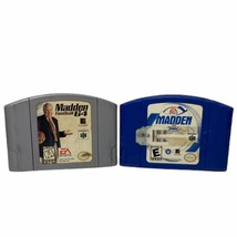 N64 Madden Football 64 And 2001 Nintendo 64 Cartridge Official OEM Authe... - $8.32