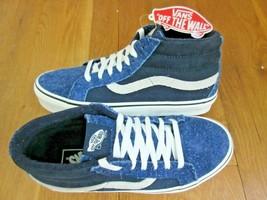 9569643ead Vans Mens Sk8-Mid Reissue Hairy Suede Mix Dress Blues Skate shoes Size 7.
