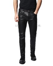 CLASSIC STYLE MEN LEATHER PANT