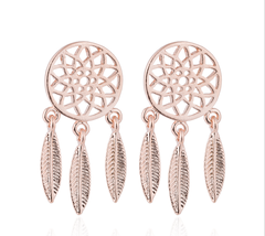 5 pairs of Bohemia Rose Gold Plated Stud Earring Stud(NED252B) - $12.50