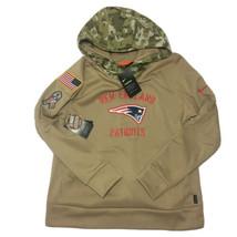 Nike New England Patriots Salute To Service Hoodie Sweatshirt Women's La... - $69.99