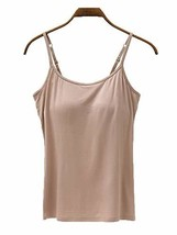 Women's Modal Built in Bra Camisole Lingere Lounge Padded Tank Tops Shir... - $19.58