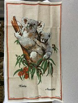 Heil Linen Tapestry Wall Hanging Koalas Australia 31x18 - $12.86