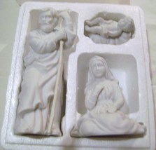 Avon Nativity Collectible 1981  Porcelain Bisque Holy Family - $18.00