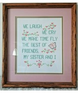 Gift - Completed Needlepoint professionally framed - Sisters   /B/ - $54.44