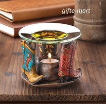 western country cowboy boot Wax Tart warmer Oil diffuser candle holder b... - $18.81