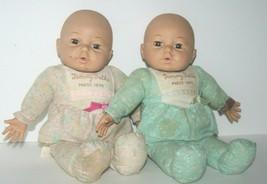 Vintage Uneeda Tummy Talks Doll, Set of 2,1991 Baby Tummy Talks, Voice Box Works - $30.81