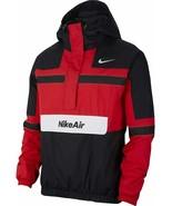 NEW Size XL Nike Air Woven Jacket Black White Red CJ4834-657 Half Zip Pu... - $186.99