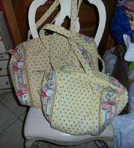 Vera bradley Large and small duffel bag travel set in retired Elizabeth ... - $120.00