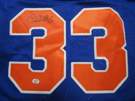 PATRICK EWING / NBA HALL OF FAME / AUTOGRAPHED N.Y KNICKS THROWBACK JERSEY / COA image 3