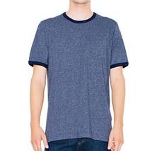 American Apparel Men's Mock Twist Jersey Crewneck Ringer T-Shirt XL X-Large Navy - $14.99