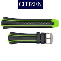 Genuine CITIZEN Eco Drive Watch Band Strap BN0097-11E S080100 Green /Black - $59.95