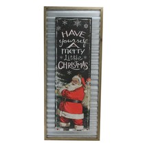 "Melrose 31.5"" Red Black Have yourself a Merry Little Christmas Santa Plaque - $47.26"