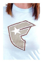 Famous Stars & Straps Womens Sky Blue Weave BOH Juniors T-Shirt New with Tags image 1