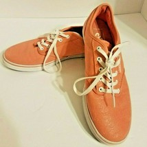 Vans Off The Wall Classic Salmon(Pink) Canvas Lace Up Shoes Womens Size 6 - $14.55