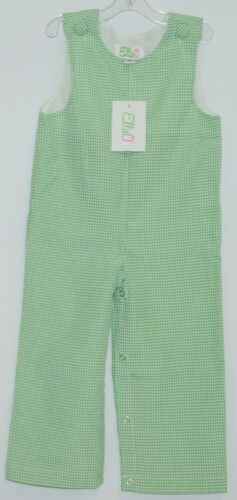 Ellie O Gingham Full Lined Longall Size 18 Months Color Green