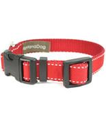 Saddle Stitch Red Grosgrain Adjustable Dog Collar / Made in Japan - $29.00