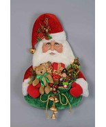"Karen Didion Santa Claus head Christmas large lighted wall hanging 35"" s... - $399.99"