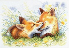 Cross Stitch Embroidery Kit Foxes Games - $47.00