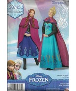 Simplicity Pattern #0745-Disney Frozen Misses Costume in Sizes 6-12  Hal... - $5.86