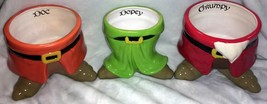 Disney Snow White Dwarf Flower Pots Dopey Doc Grumpy lot of 3 New - $24.75