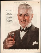 Vintage magazine ad COCA COLA Busy Man from 1924 man pictured Fred Mizen... - $19.99