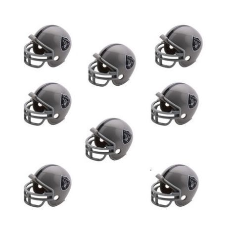 OAKLAND RAIDERS 8 PARTY PACK NFL FOOTBALL HELMETS RIDDELL