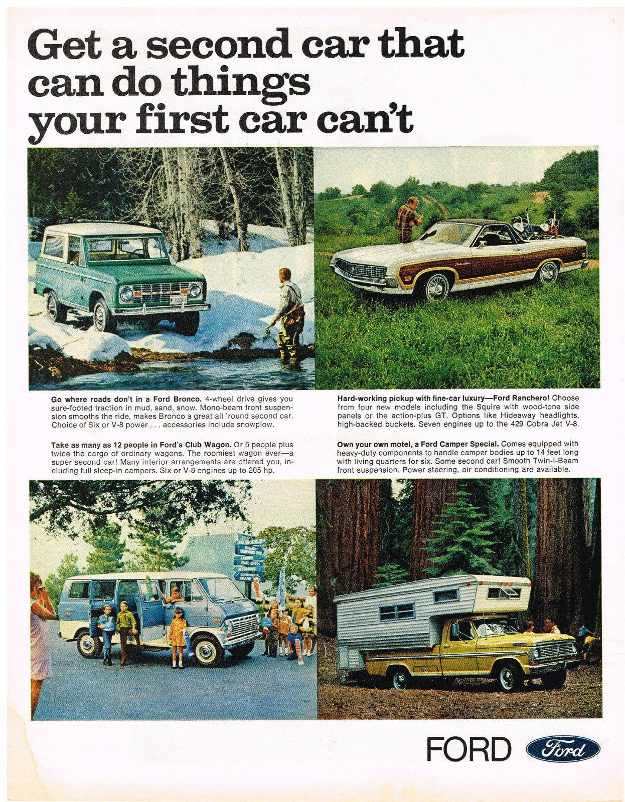 Vintage 1969 Magazine Ad Ford Vehicles Large Hard Working Versatile Practical - $5.93