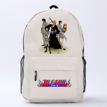 Bleach Theme Fighting Anime Series Backpack Schoolbag Daypack White Team... - $26.99