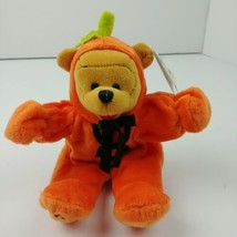 Disney Store Winnine The Pooh In Pumpkin Costume Plush Stuffed Animal NWT - $9.90