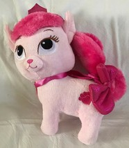 PALACE PETS Disney AURORA'S PINK Plush Cat Girl's Purse Stuffed Beauty A... - $24.99