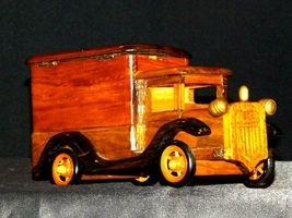 Wooden Toy Milk Truck AA19-1569 Vintage image 3