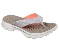 Skechers Women's GOwalk 3 Pizazz Thong Sandal,Taupe - $66.75