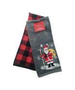 Santa Hand 2pk Towels Gray - Wondershop , Red Gray 15in x 25 in Christmas - $12.10