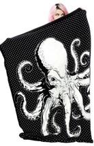 Sourpuss Octopus Punk Goth Nautical Animal Ocean Sea Throw Blanket SPHW126 - €22,65 EUR