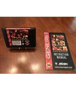 WWF Raw (Sega Genesis, 1994) game cartridge and manual (no case) WWE wre... - $20.23
