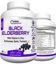 Sambucus Black Elderberry Capsules, Potent Immune Support Combination of Elderbe - $17.59
