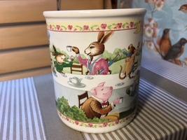 Vintage Hallmark Tea Time Frog Mouse Bear Pig Mug Cup - $7.65