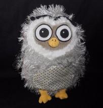 "11 "" Ganz Bambino Legnoso Owl Grigio Patchwork Peluche Peluche Morbido 8... - $26.30"