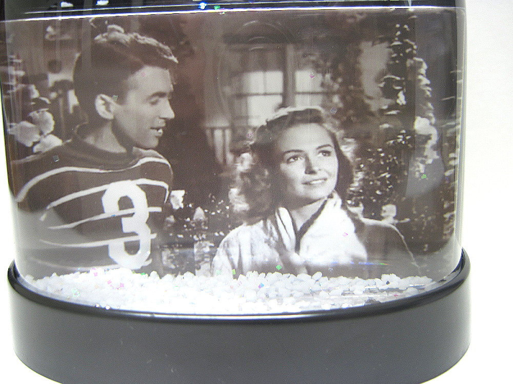 It's A Wonderful Life Snow Globe George Bailey Lassos Moon Snowglobes Stewart