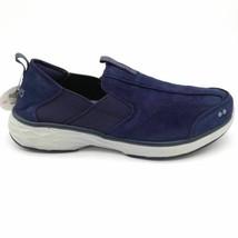 Ryka Womens Terrie Walking Shoes Blue Low Top Leather Slip On Sneakers 7 M - $26.72