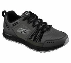 Skechers Wide Fit Charcoal shoes Men Memory Foam Comfort Sport Trail Wal... - $39.99