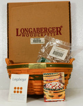 Longaberger Christmas Collection POPCORN Basket Lid Liner Protector 1999... - $89.99